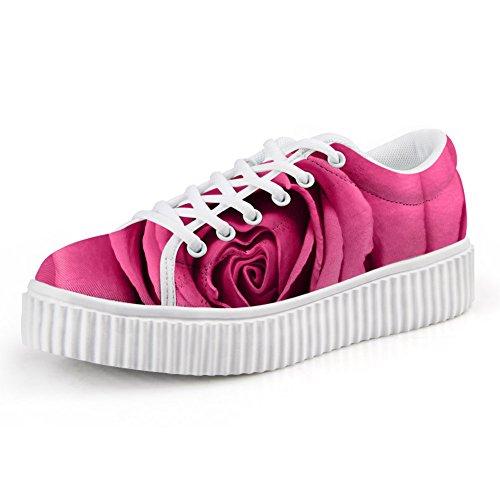 Knuffels Idee Mode Bloemen Klimplanten Dames Platform Sneakers Skate Schoenen Bloemen 6