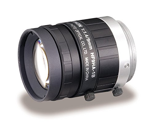 "Fujinon HF9HA-1B 2/3"" 9mm F1.4-F16 Fixed Focal Lens for 1.5MP Cameras. C-Mount, Manual Iris, Industrial and Machine Vision Applications"