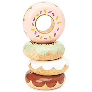 Le Toy Van - Educational Wooden Honeybake Pretend Play Doughnuts Set Toy Cakes | Gorgeous Pretend Play Food | Birthday Cake Or Afternoon Tea Role Play Toy | Great As A Gift