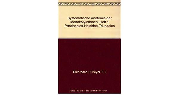Systematische Anatomie der Monokotyledonen. Heft 1 Pandanales ...