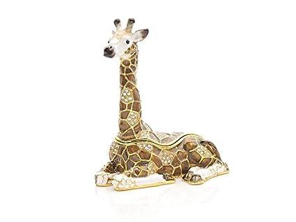 f30565e9d00 Treasured Trinkets Giraffe Trinket Box Jewelry Storage Case Organizer Women  Gift  Amazon.co.uk  Kitchen   Home