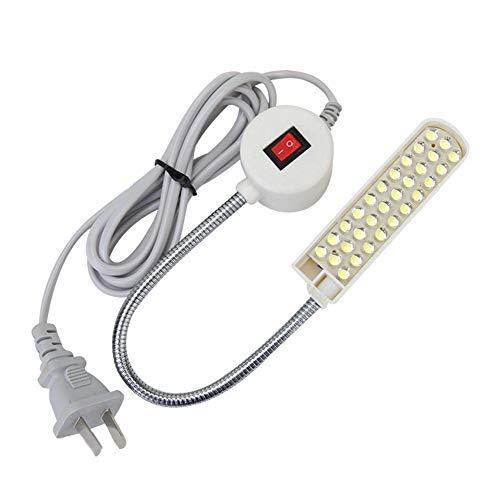 ZealMax Base de montaje magnética Luz de Trabajo Lámpara de Cuello de cisne 110v 30 Luz LED para el hogar o la máquina de Coser