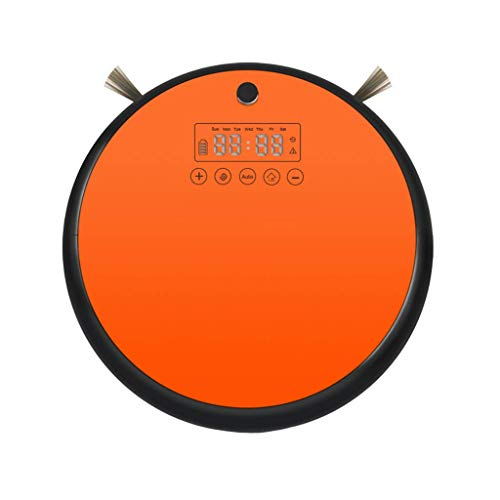ZCP Intelligent Sweeping Robot, Household Sweeping and Mopping Filter, Automatic Vacuum Cleaning, Intelligent Intelligent Sweeping Robot (Color : Orange)