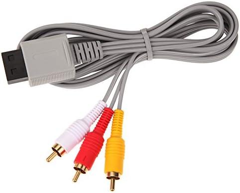 ZRM&E 1パック 1.8m AVケーブル ゲームコンソール コンポーネント アクセサリー 接続ケーブル オーディオビデオ 金