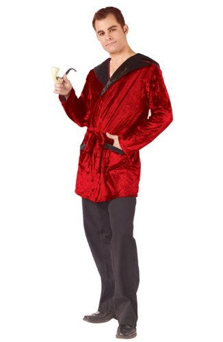 Fun World Men's Casanova Smoking Jacket Adlt, Multi, One Size -