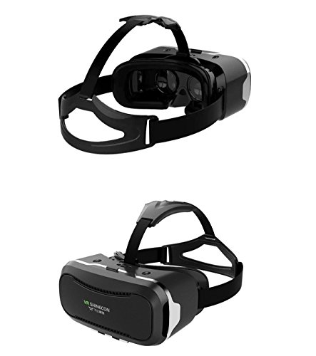 """3D VR Headset, Shinecon 2.0, Virtual Reality Glasses adjustable 360 degree Viewing Immersive for iPhone / Android Smartphone 4.7""""-6.0"""""""