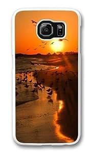 Animals Custom Samsung Galaxy S6/Samsung S6 Case Cover Polycarbonate White