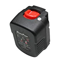Maximal Power PTB BD12B 12v 1500mAh Ni-Cd Replacement Battery for Black and Decker 12v power Tools (Black)