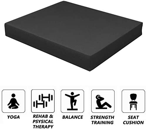 Strainho Non-Slip Balance Foam Pad,Gym Exercise Mat