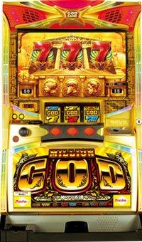 パチスロ実機 ミリオンゴッド-神々の系譜(ミズホ)100Vトランス・コイン500枚・ドル箱・ドアキー・設定キー・ボリューム付の商品画像