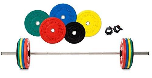ハンプトン375 lb。Poundバンパープレートオリンピックバーベルセット