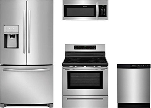 (Frigidaire 4-Piece Kitchen Stainless Steel Package With FFHB2750TS 30