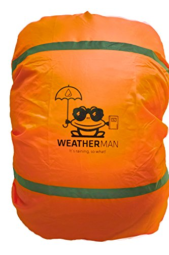 Weatherman Waterdichte regenbescherming voor schooltas en rugzak, signaalkleur, met elastiek, regenhoes, veiligheidshoes…
