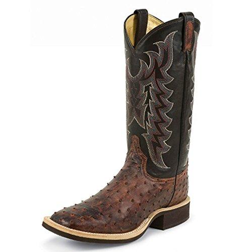 Tony Lama Mens Chadron Mandel 13 Höjd (8989) | Fot Mandel Vint Fq Struts | Pådrags Västra Stövlar | Brunt Cowboy Läder Boot | Handgjorda I Usa
