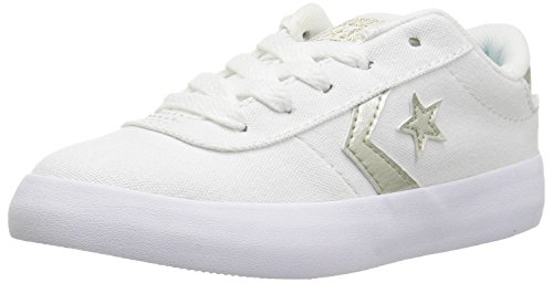 (Converse Girls Point Star Sneaker, Optical White, 1 M US Little)