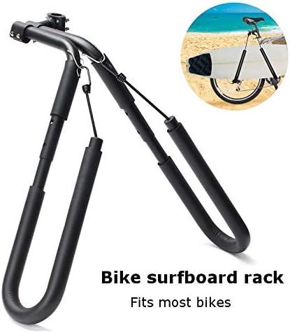 Colore : Nero TZZD Tavola da Surf Wakeboard Bike Rack Surf Bicicletta Monte Vettore a Seat Messaggi