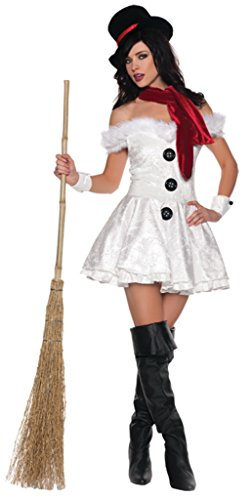 Underwraps Womens Snowed In Christmas Snowman Outfit Fancy Dress Sexy Costume, S (4-6) - Snowed In Costumes