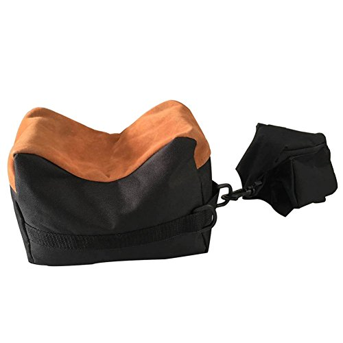 - Nachvorn Outdoor Shooting Rest Bag - Target Sports Bench Unfilled Front & Rear Support Bags for Shooting Hunting Photography, Black