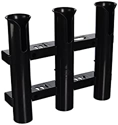 Ce Smith Tournament 3 Rack Rod Holder, Black-replacement Parts & Accessories For Tournament Fishing, Rod Fishing, Deep Sea Fishing & Trolling