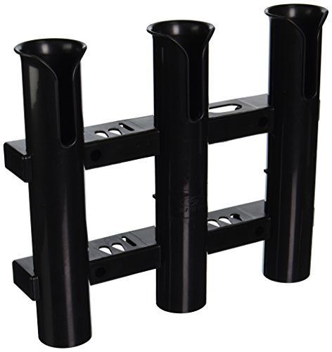 Three Rod Tournament Rack - CE Smith Tournament 3 Rack Rod Holder, Black-Replacement Parts and Accessories for Tournament Fishing, Rod Fishing, Deep Sea Fishing and Trolling