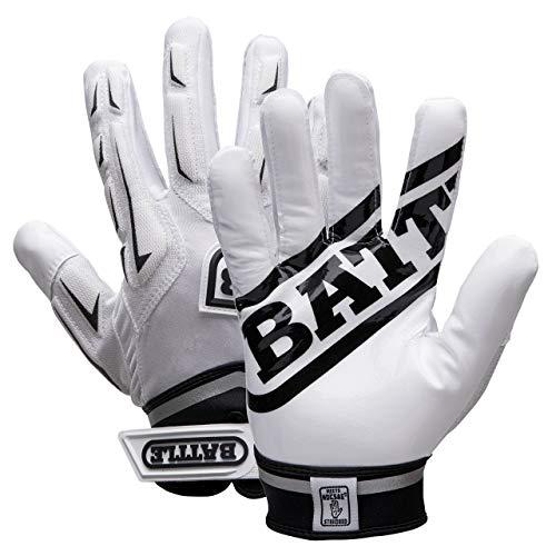 Battle Youth Hybrid Gloves, White, Medium 9371YM