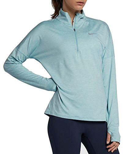 Nike Women's Dri-Fit Element Long Sleeve Running Top (Large, Ocean Bliss)