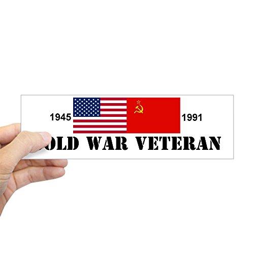 "CafePress Cold War Veteran bumper sticker 10""x3"" Rectangle Bumper Sticker Car Decal"