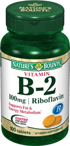 Nature B2 Vitamine Bounty, 100 mg, 100 comprimés (lot de 4)