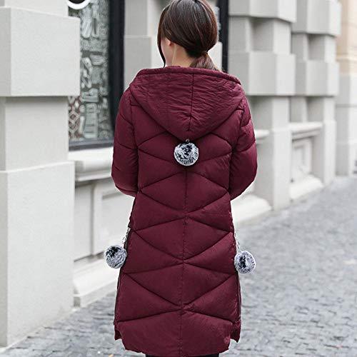 Rojo Bozevon Mujer Para Chaqueta Oscuro wwPU0