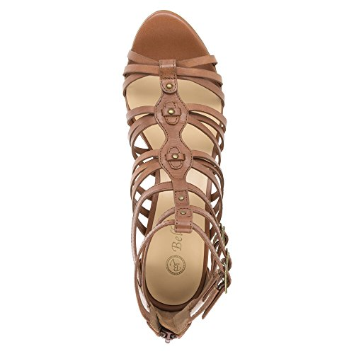 Bella Vita Layne gladiador sandalias de la mujer Dark Tan