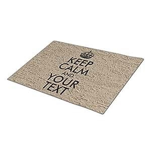 Tiyan Monogrammed Door Mat Keep Calm And Your Text Large Door Mat