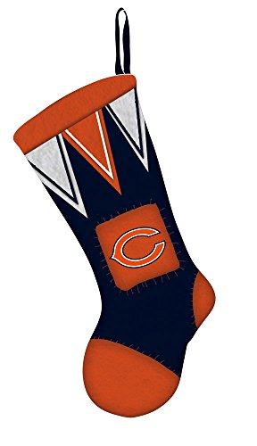 Team Sports America Chicago Bears Microfleece Christmas Stocking