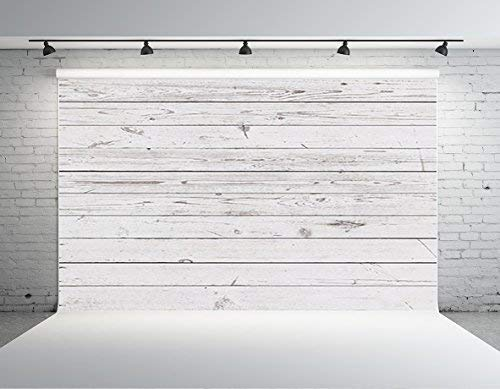 Kate HJ04001 写真撮影用背景幕 8×8フィート ホワイト 木製 床 写真 背景 コットン 洗濯可能 新生児 背景   B07MQXYSMZ
