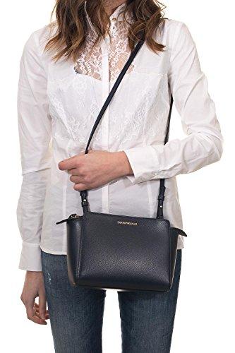 Grain Nero Armani Femme Logo Blu Handbag Emporio Noir OSwx7O