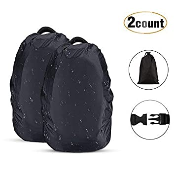 AGPTEK 2-Pack Nylon Waterproof Backpack Rain Cover for  Hiking Camping Traveling  3ab5532678