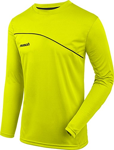 Reusch Soccer Match Prime Padded Long Sleeve Goalkeeper Jersey, Yellow/Black, Adult Large ()