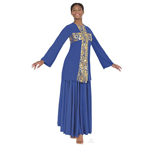 - Eurotard 49893 Adult Revival Collection Cross Praise Top (Royal, Plus 3X)