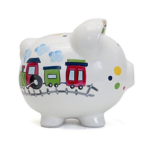Child to Cherish Ceramic Piggy Bank for Boys, Train