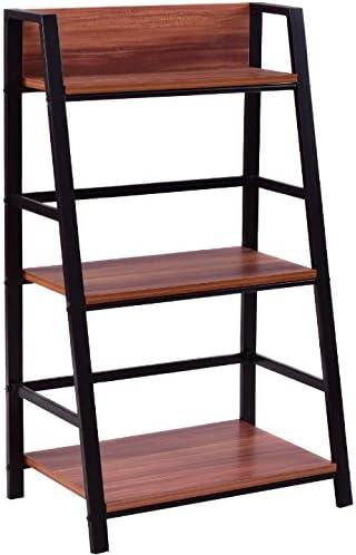 3 Tier escalera estante de almacenamiento pantalla estantes de pie Libro estantería jarrones adornos decoración de hogar cocina dormitorio salón moderno piso decoración muebles útil organizador hierro marco: Amazon.es: Hogar