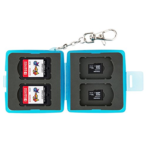 JJC Blue Memory Card Case for Nintendo Switch