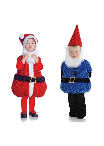 Christmas Santa Claus and Gnome Toddler Baby Boys Costumes (2T to 4T) (Gnome Girl Costume For Toddlers)