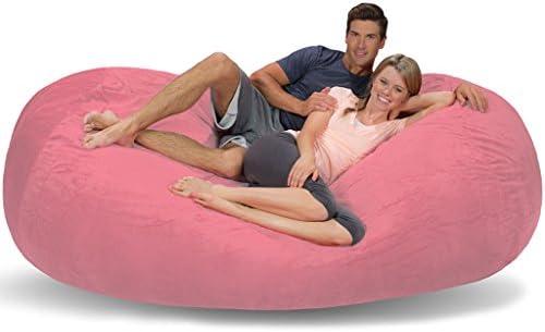 Awe Inspiring Comfy Sacks 7 5 Ft Lounger Memory Foam Bean Bag Chair Pink Alphanode Cool Chair Designs And Ideas Alphanodeonline
