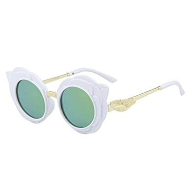 Wang-RX Niños preciosos redondos Gafas de sol Moda para ...