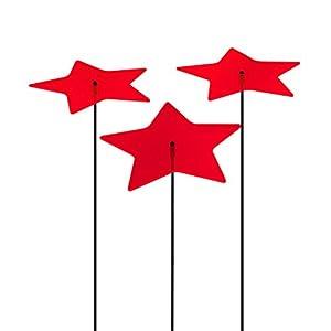 SUNPLAY Sonnenfänger Sterne Stella in ROT, 3 Stück je 10 cm Durchmesser im...