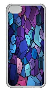 Abstract Blue Cube Stack Custom iPhone 5s/5 Case Cover Polycarbonate Transparent