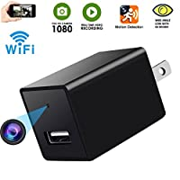 Spy Camera -USB Hidden Cam-Wifi Nanny Camera-HD 1080P Snap SmartCam-Mini Plug in Security Camera-Wall Charger Camera- Motion Detection-Remote Viewing -Latest Version 2018