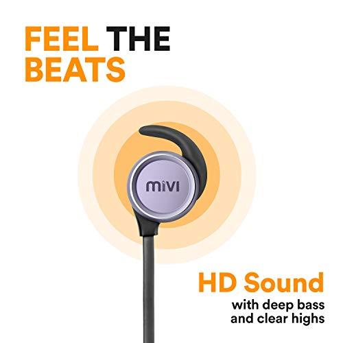 Mivi ThunderBeats Wireless Bluetooth Earphones with Mic – Gun Metal