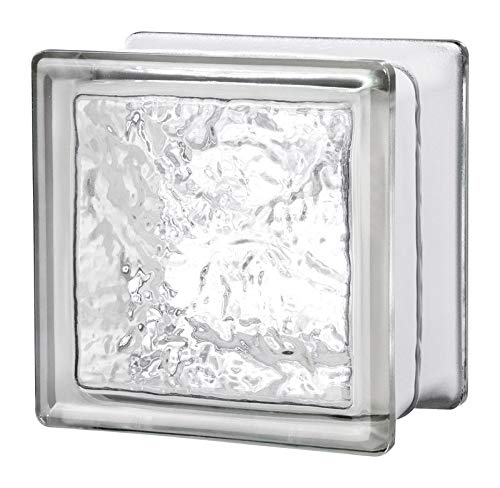 Pack of 8 Cortina Glass Block Seves 5002859 6 x 6 x 4 in