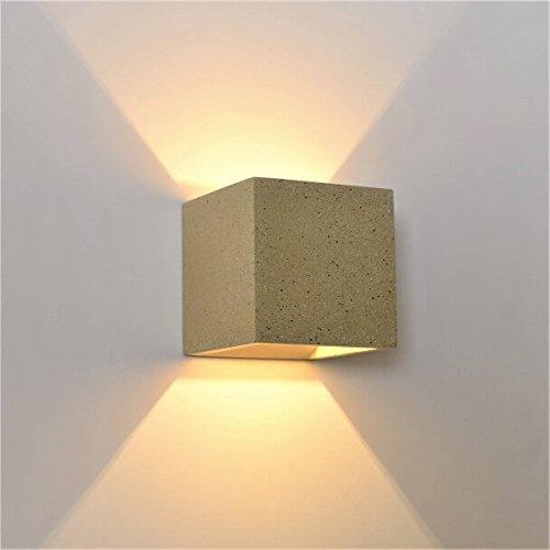 timeless design 03774 d3d52 KosiLight - Cement Cube Wall Light - Terra - Grey - 220/230V ...