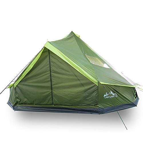 XBR Large Tents for Camping for Family, Portables Beach Tent 100% Waterproof Anti UV with Zipper Door Pointed roof for Family Camping Beach Fishing Garden Automatic Instant Cabana(Green)